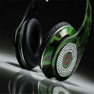 Beats By Dre Diamond Studio High Performance Camouflage Green Limited Edition with Diamond