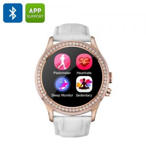 NO.1 D2 Smartwatch - 1.22 Capacitive Touchscreen, Bluetooth 4.0, Pedometer, Heart Rate Monitor, Sedentary Reminder (White)