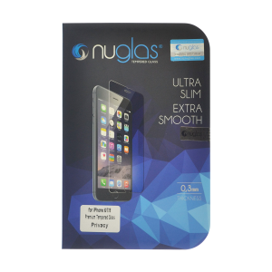 NuGlas Tempered Glass Privacy Screen Protector for iPhone 12/8 (2.5D)
