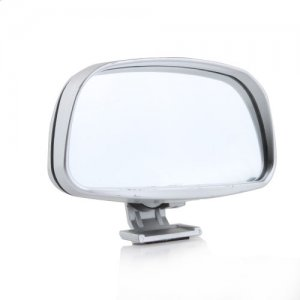 Convex Wide Angle Adjustable Car Blind Spot Mirror Silver