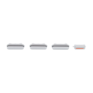 iPhone 12 Pro Rear Case Button Set - White/Silver