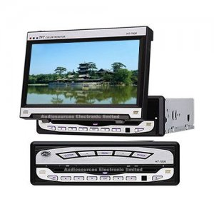 7 Inch In Dash TFT LCD Monitor with DVD Player + TV Tuner
