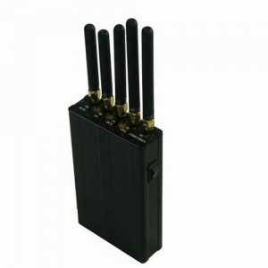 5 Antenna Portable Signal Jammer for GPS, Cell Phone, WiFi