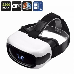 3D Android VR Glasses - 5 Inch HD Display, 3D Support, Quad-Core CPU, Wi-Fi, 32GB External Memory, Google Play, OTG, 2200mAh