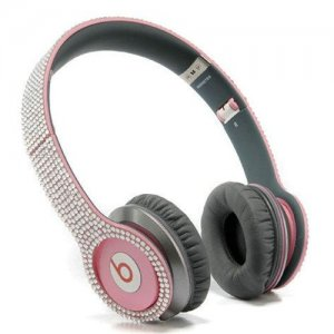 Beats By Dr Dre Solo HD studded diamond Headphones Pink
