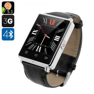 NO.1 D6 3G Smart Watch - 1.63 Inch Display, Android 11.0, Bluetooth 4.0, GPS, Wi-Fi, Heart Rate, Pedometer (Silver)