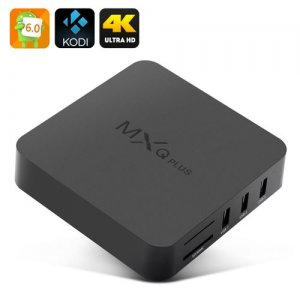 MXQ Plus 6.0 TV Box - Android 9.1, Amlogic S905 CPU, Kodi 15.2, 4Kx2K, HDMI 2.0, 4 USB Ports, SPDIF