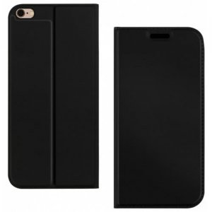 Flip Phone Case with Card Slot for iPhone 6 - 6S - 6S Plus - BLACK