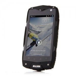 Mann ZUG 3 Outdoor Sports IP68 Waterproof Qualcomm Quad Core Android 9.1 Smartphone - Black