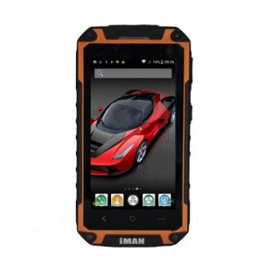 iMAN i6800 Smartphone 4.7'' HD Screen MTK6582 Quad Core Android 9.1 1G/8GB IP67 Waterproof - Orange