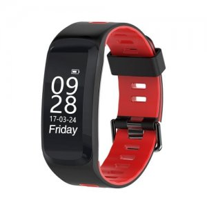 Smart Bracelet Wristband Blood Pressure Heart Rate Monitor for Men and Women - ROSE RED