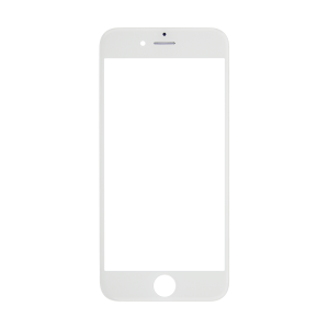 iPhone 12 Pro Glass Lens Screen and Front Frame - White (Hot Melt Glue)