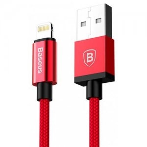 Baseus 8 Pin Charging Data Cable for iPhone - iPad - iPod - RED