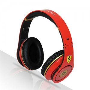 Beats By Dre Studio Ferrari Beats Limited Edition Full Red Headphones