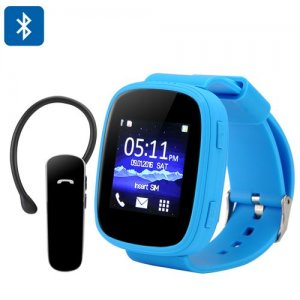Ken Xin Da S7 GSM Smart Watch - 1.54 Inch Touch Screen, Bluetooth, Heart Rate Monitor, SMS Sync, FM Radio (Blue)