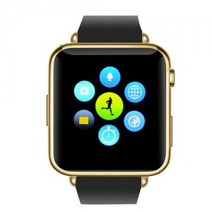 Bluetooth Mobile Phone Watch - GSM SIM Card Slot, 32GB Micro SD Slot, Phone book, Call Answer, SMS (Gold)