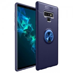 Case for Samsung GALAXY Note 9 Stand Magnetic Bracket Finger Ring Phone Cover - DENIM DARK BLUE