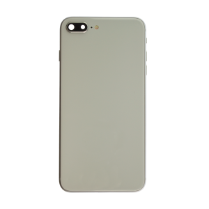 iPhone 8 Plus Glass Back Cover with Housing and Pre-installed Small Components - Silver (No Logo)
