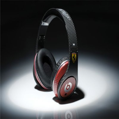 Beats By Dre High Definition Powered Isolation Headphones Ferrari Black Carbon Fiber Limited Edition