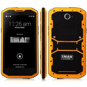 iMAN i8800 Smartphone 5.5 Inch HD Screen IP68 MSM8916 Quad Core 1GB 8GB - Orange