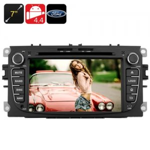 7 Inch Touchscreen Ford Car DVD Player - Bluetooth support, 2DIN, Android 9.1,Quad Core CPU, GPS, 3G, Wi-Fi