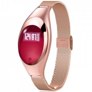 Z18 Smart Bracelet Women Wristbands Fitness Heart Rate Monitor - GOLD