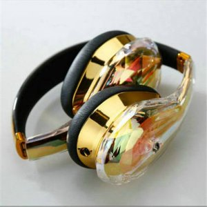 Monster Diamond Tears Hi-Definition On-Ear Headphones Gold