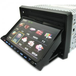 7 Inch LCD Touch Screen Car DVD Player + TV + Amplifier + HD