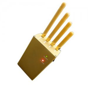 Handheld Cellphone GPS Jammer 3Watts output power + four Antennas