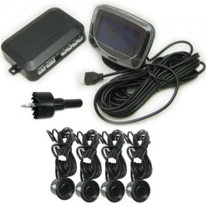 Multi-functional Car Rearview Camera with LED Parking Sensor