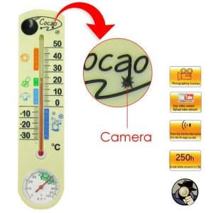 Thermometer Spy Camera with 4GB Internal Memory