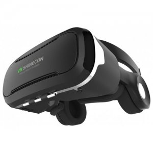 VR SHINECON 4.0 Stereo Virtual Reality Smartphone 3D Glasses Headset - BLACK
