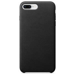 Case for iPhone 8 Plus - 7 Plus Leather Shell - BLACK