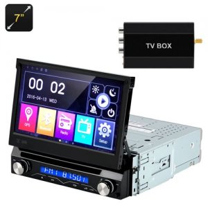 7 Inch Car DVD Player - 1 DIN, Detachable Panel, GPS, Bluetooth, FM Radion, Region Free