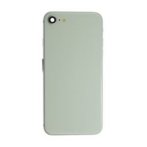 iPhone 8 Glass Back Cover and Housing with Pre-installed Small Components - Silver (No Logo)