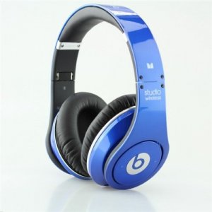 Beats By Dr Dre Studio Wireless Bluetooth Over-Ear Blue Headphones