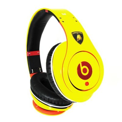Beats By Dre Studio Lamborghini High Definition Powered Isolation Headphones Limited Edition Yellow