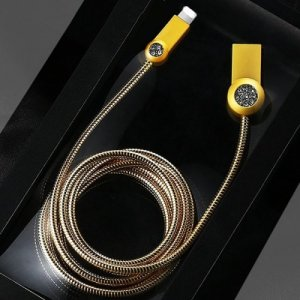 REMAX RC - 085i 8 Pin Anti-knot Charging Transmission Data Cable 100cm - GOLD