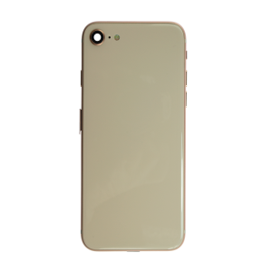 iPhone 8 Glass Back Cover and Housing with Pre-installed Small Components - Gold (No Logo)