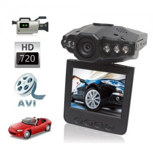HD 720P Car Black Box with Night vision + 2.5 TFT Rotatable LCD Screen