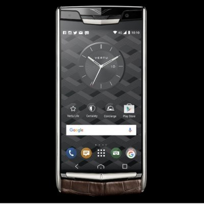 Vertu Signature Touch Cocoa Alligator Clone Android 9.1 Snapdragon 821 4G LTE luxury Phone