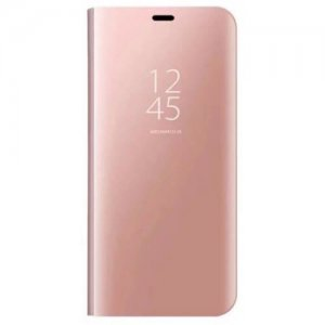 Mobile Phone Protection Shell Mirror with Support for Samsung Galaxy S8 Plus - ROSE GOLD
