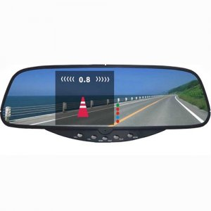 "RD728S Rearview Mirror with 3.5"" TFT and Camera Display Parking Sensor System"