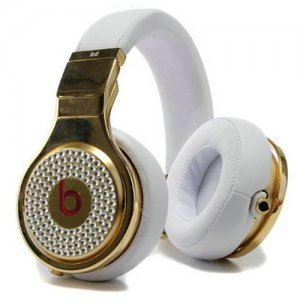 Beats By Dr Dre Pro High Performance Diamond Headphones White/Gold