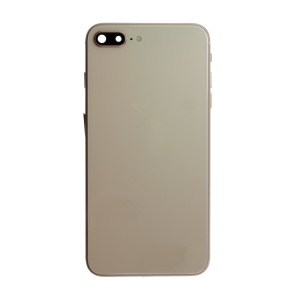 iPhone 8 Plus Glass Back Cover with Housing and Pre-installed Small Components - Gold (No Logo)