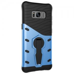 Protection Cover with Heavy Armored Mobile Phone Case for Samsung S8 - OCEAN BLUE