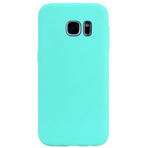 TPU Case for Samsung Galaxy S7 Edge Candy Color Silicone Cover - MINT GREEN
