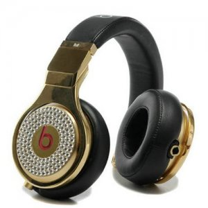 Beats By Dr Dre Pro High Performance Diamond Headphones Black/Gold
