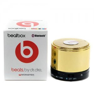 Beats By Dr Dre Beatsbox Portable Bluetooth Mini Gold Speakers