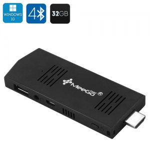 MeeGoPad T02 Windows 10 Mini PC Stick - Intel Atom Quad Core CPU, 2GB RAM, 32GB Memory, HDMI, 2xUSB, Bluetooth 4.0